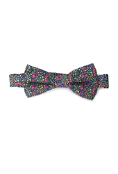 Forever 21 Floral Print Bow Tie Blue Pink