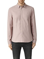 Allsaints Hungtingdon Slim Fit Shirt Pink