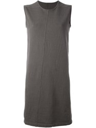 Rick Owens Drkshdw Round Neck Shift Dress Grey
