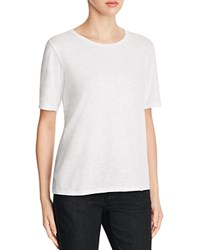 Eileen Fisher Organic Cotton Heathered Tee White