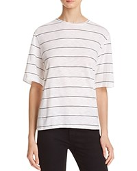 Michelle By Comune Boxy Stripe Tee White Black