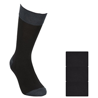 John Lewis Bamboo And Cotton Plain Socks Pack Of 3 Black