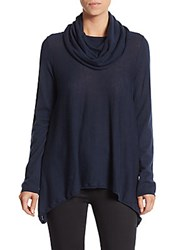 Alice Olivia Draped Cowlneck Sweater Navy