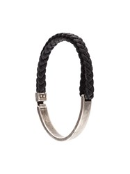 Title Of Work Braided Side Curb Bracelet Black