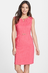 'Kenya' Embellished Woven Sheath Dress Regular And Petite Rose