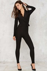 Nasty Gal Swank Us Later Tux Jumpsuit
