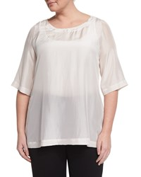 Marina Rinaldi Beat 3 4 Sleeve Japonette Silk Top Women's