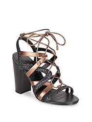 Charles By Charles David Greensboro Lace Up Sandals Black Bronze