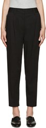 3.1 Phillip Lim Black And Silver Carrot Trousers