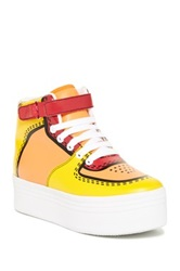 Jeffrey Campbell Cartoon Platform High Top Sneaker Yellow