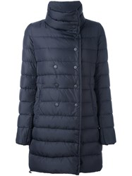 Duvetica Double Breasted Puffer Jacket Blue