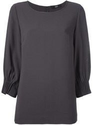 Steffen Schraut Scoop Neck Blouse Brown