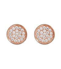 Carat Pave Round Stud Earrings Female White