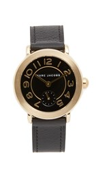 Marc Jacobs Riley Watch Gold Black