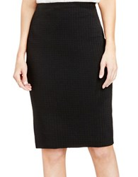 Vince Camuto Houndstooth Texture Pencil Skirt Rich Black