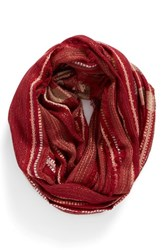 La Double 7 Women's Metallic Plaid Infinity Scarf