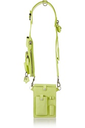 Alexander Wang Neon Nubuck Utility Shoulder Bag Yellow