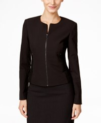 Calvin Klein Fit Solutions Zip Front Side Panel Jacket Only At Macy's Black