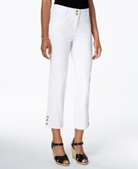 Charter Club Tummy Control Cropped Jeans Only At Macy's White Wash
