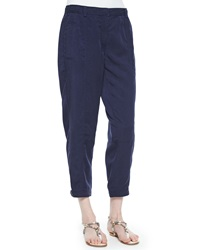 Eileen Fisher Twill Button Cuff Ankle Pants Women's