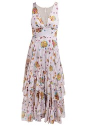 Free People Catching Glaces Summer Dress Ivory Combo Beige