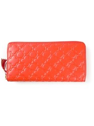 Comme Des Garcons Wallet 'Embossed B' Wallet Yellow And Orange