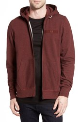 G Star Men's Raw 'Core' Zip Hoodie Dark Bordeaux Heather