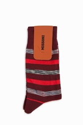 Missoni Space Dye Stripe Socks Brown