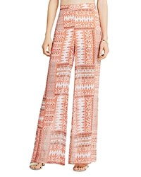 Bcbgeneration Paisley Print Wide Leg Pants Peach Rose Multi