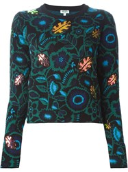 Fendi Floral Intarsia Sweater Black
