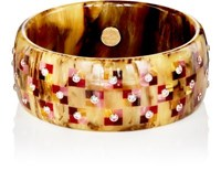 Mark Davis Women's Studded Wide Band Bangle Brown