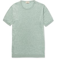 John Smedley Medley Tonewell Lim Fit Ea Iland Cotton And Cahmere Blend T Hirt Mint