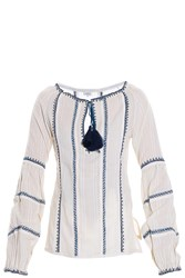 Talitha Faro Embroidered Blouse White