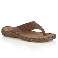 Lotus Sebastian Toe Post Sandals Brown