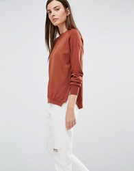 Selected Penna Jumper With Side Zips Brown