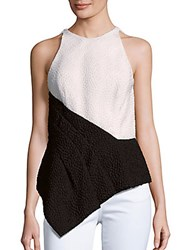 J. Mendel Colorblock Sleeveless Top White