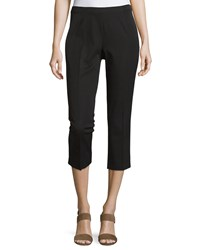 Neiman Marcus Cropped Bi Stretch Pants Black