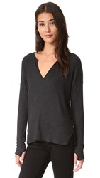 Feel The Piece Georgie Henley Top Charcoal