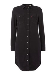 Levi's Iconic Western Dress In Black Ink Black