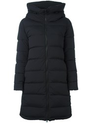 Aspesi Hooded Zipped Coat Black