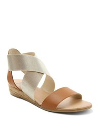Andre Assous Malta Colorblocked Sandals Beige