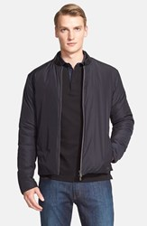 Men's Armani Collezioni Leather Collar Down Jacket