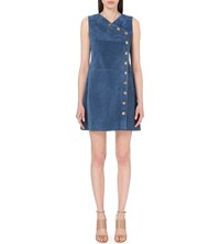 Mih Jeans Lorca Suede Dress Faded Blue