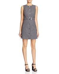 Michael Michael Kors Check Print Snap Front Dress Black