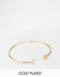 Asos Limited Edition Gold Plated Brass Open Butterfly Cuff Bracelet