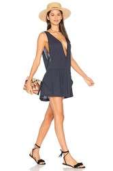 Milly Deep V Pocket Cover Up Navy