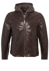 Gipsy Biko Leather Jacket Dunkelbraun Dark Brown