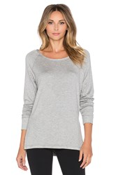 Pink Lotus Cut It Ombre Pullover Gray
