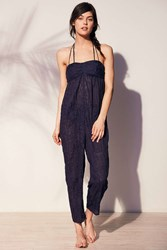 Out From Under Burnout Beach Romper Navy