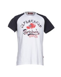Carlsberg Topwear T Shirts Men White